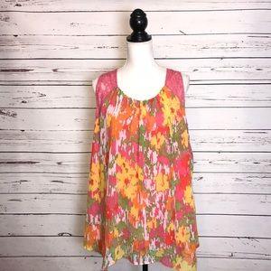 Lane Bryant sleeveless neon blouse/top